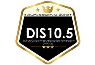 DIS10.5 TOP 20 Critical Web Application Vulnerability Certification (DWAV20 Standards)